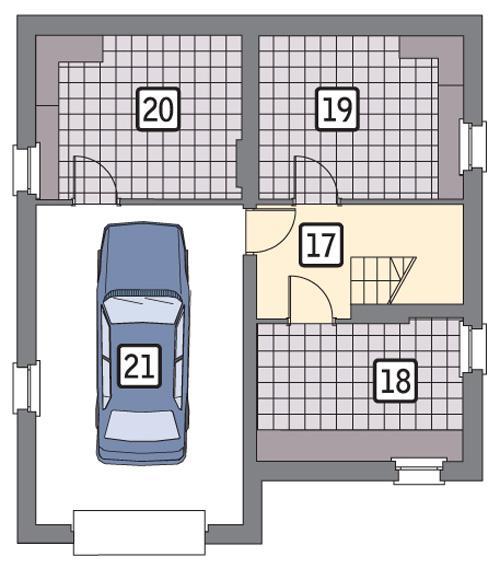 Rzut piwnicy POW. 66,7 m²