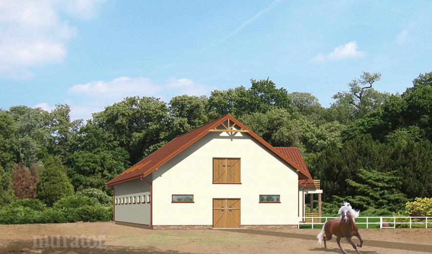 SC07 Stajnia dla 16 koni z częścią mieszkalną-rekreacyjną i poddaszem gospodarczym