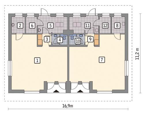 Rzut parteru POW. 143,1 m²